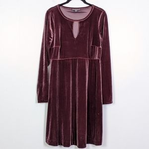 A Pea in the Pod Burgundy Velvet Maternity Dress